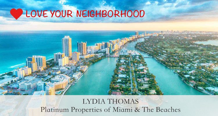 Aerial View Miami Beaches